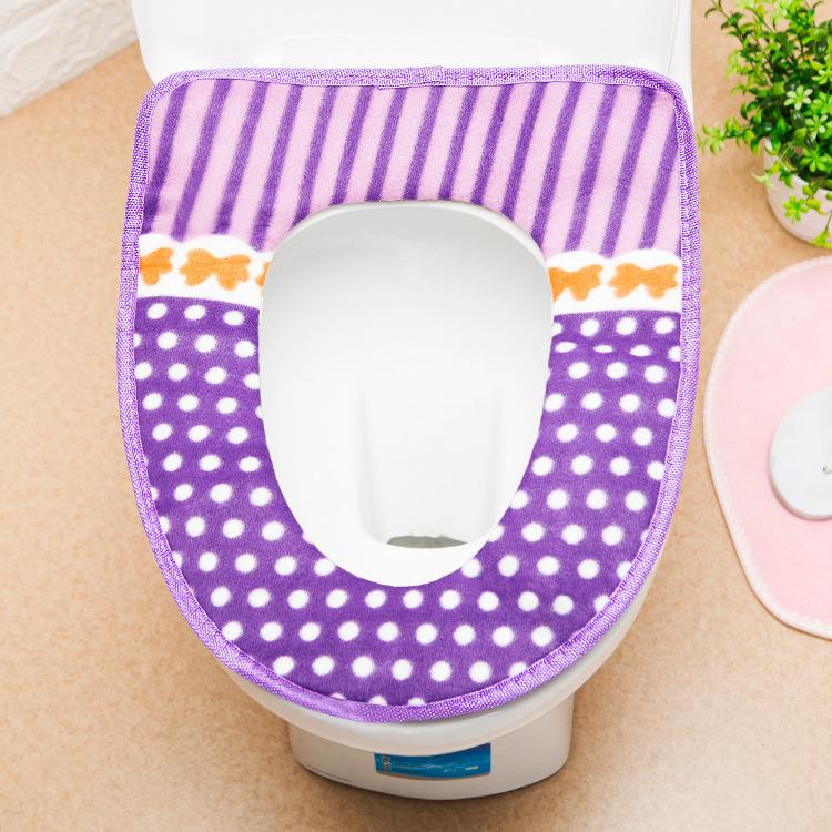 Zhan kou shi peluche toilettes épais tapis universel Potty d'hiver Ensembles de siège de toilette Grande Toilette Coussin de siège