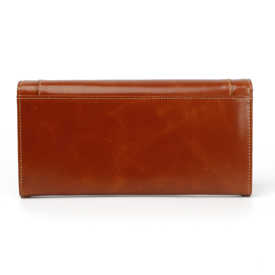 Genuine Leather lady wallet new version oil wax leather women