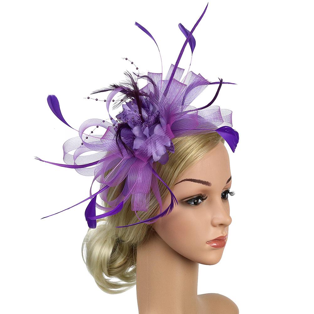 KRASTAL Fascinator for Women Formal Cocktail Party Wedding Hat Dress Fedoras Wedding Hair Accessories
