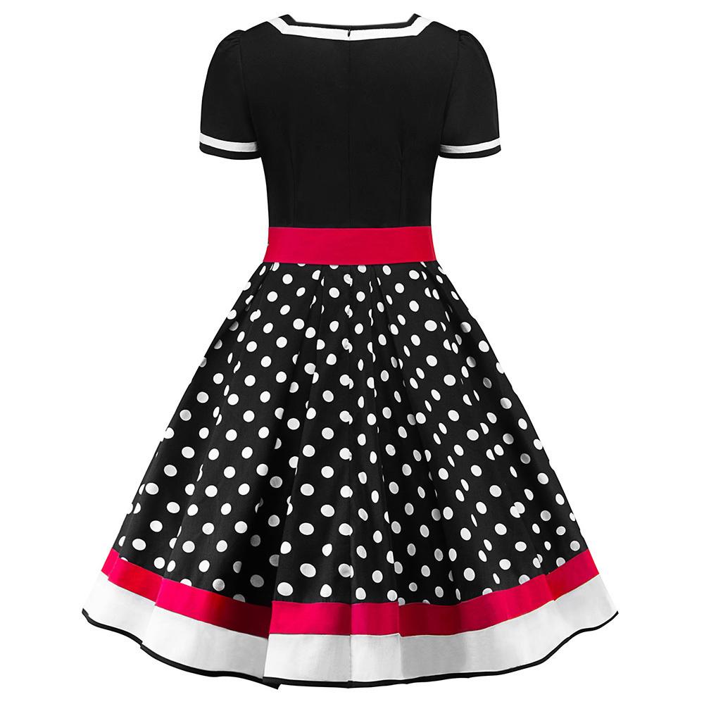 Wipalo S-2xl Polka Dot Print Vintage Dress Women Summer V-neck Sleeveless A-lined Dress Sweetheart Pin Up 50s Party Dresses Belt Q1904011