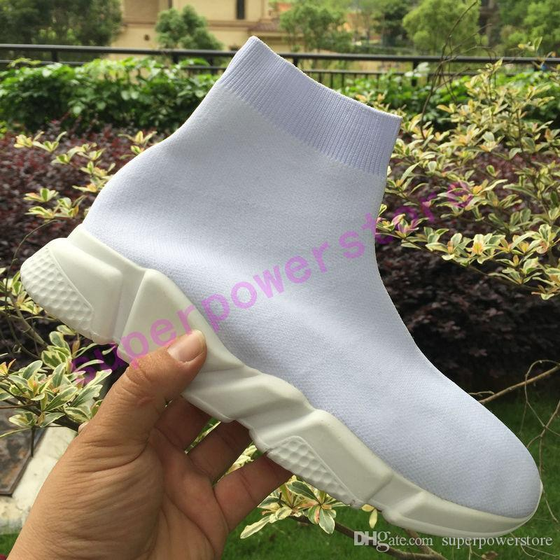 2019 mens designer shoes speed trainer triple black white red prune grey royal men casual sock shoes women fashion sneakers