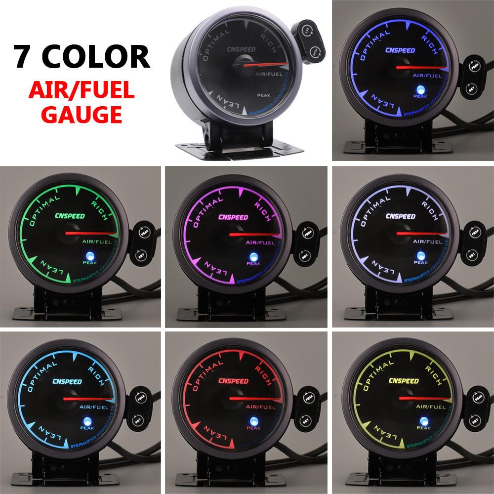 "2.5/"" 60mm Step Motor Dual Color Digital LED Monitor Car SUV Air Fuel Ratio Gauge"
