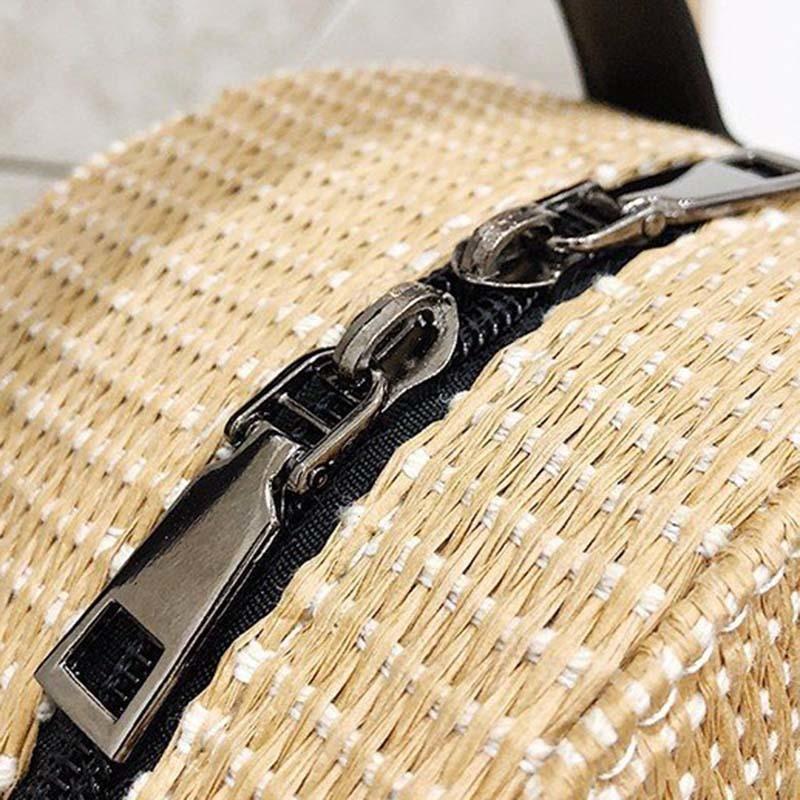 New Women Circle Handbag Summer INS Popular Female Straw Bag Cherry Lady Knit Shoulder Bag Fashion Holiday Crossbody SS7314 (5)