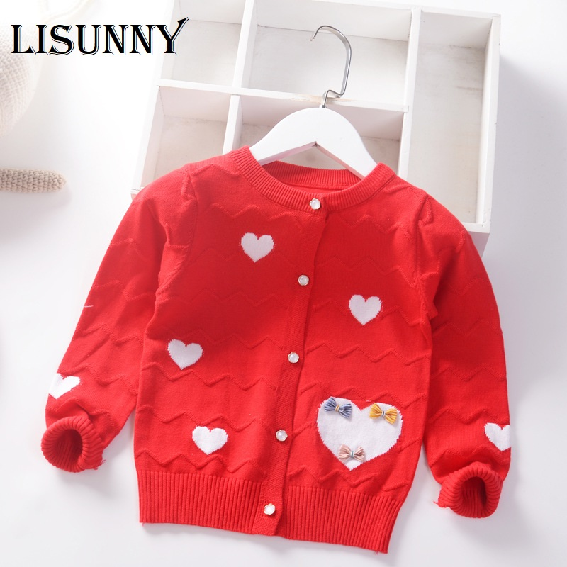 Lifestyler Kids Girl Clothes Knitted T Cardigan Sweater Coa Fashion V-Neck Single Breasted Outwear