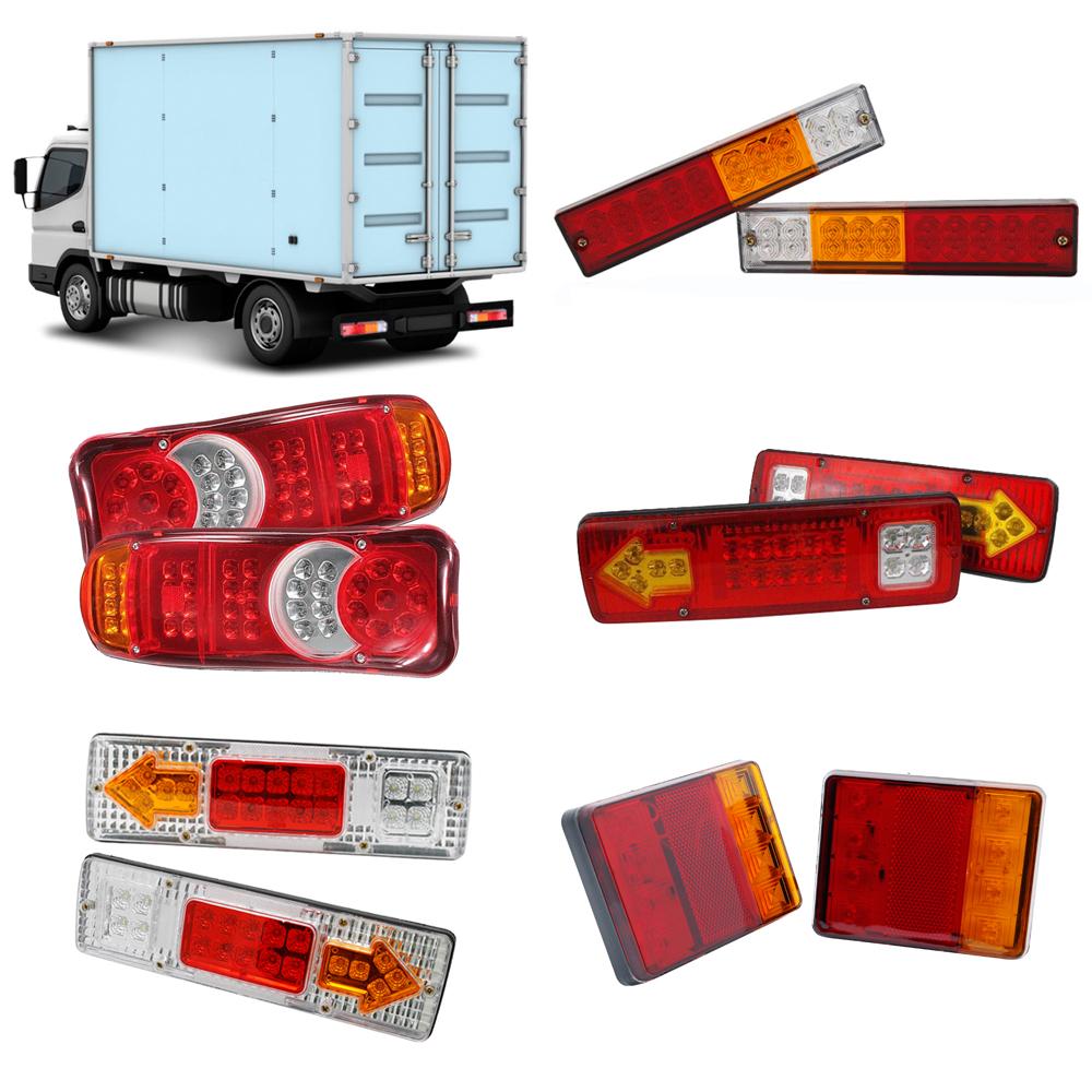 2x 24V//12V lámparas luces traseras cola traseras Camión Camión Universal Par