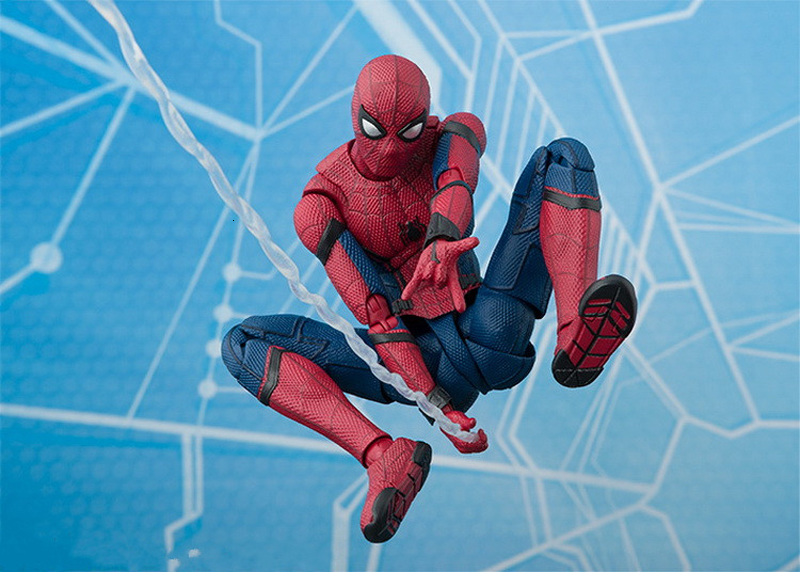 2017 New Spiderman Series Spider-Man PVC Action Figure Collectible Model Toy Christmas Gift for Kids 15cm (9)