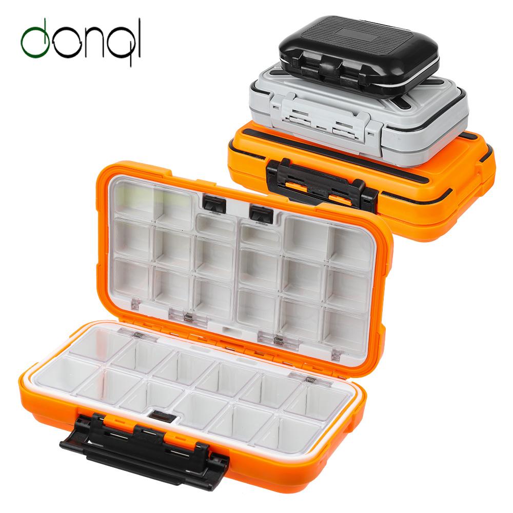 Large Fishing Box Flies Case Waterproof Clear View Deep Slot Slit Foam Storage Box Translucent-White