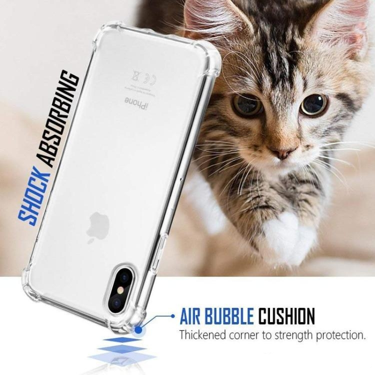 Transparent Phone Case For iPhone 12 11 mini Pro MAX XS XR 8 7 Plus Samsung S20 TPU Protective Shockproof Clear Case Cover