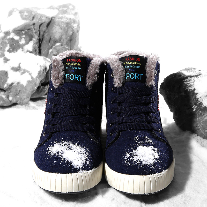 Men High Top Comfortable Adultos Black Man Boots Fashion Non-slip Sneakers Brands Zapatos Snow Boots Big size Winter Male Shoes9
