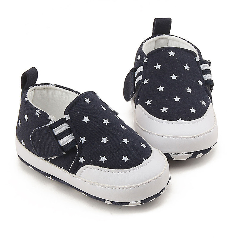 Baby Shoes For Girls Boys Newborn Infant Baby Girl Boy Star Print Shoes Soft Sole Anti-slip Shoes Baby First Walker Shoes M8Y11 (6)