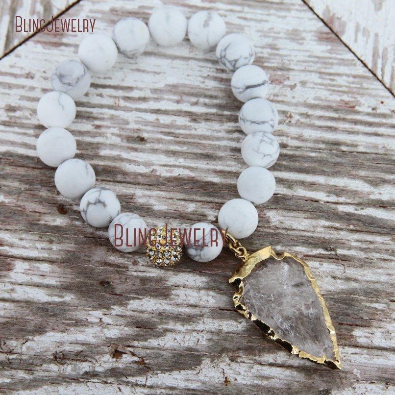20181201-BM17426-Latest Arrowhead Clear Crystal Bracelet On Sale_27