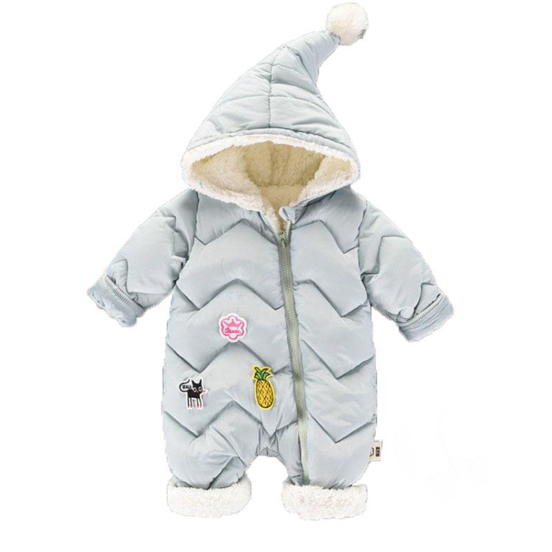 CROAL CHERIE 60-100cm Baby Winter Girls Boys Clothes Warm Fleece Velvet Newborn Baby Romper Infant Costume Pink Sky Blue (6)