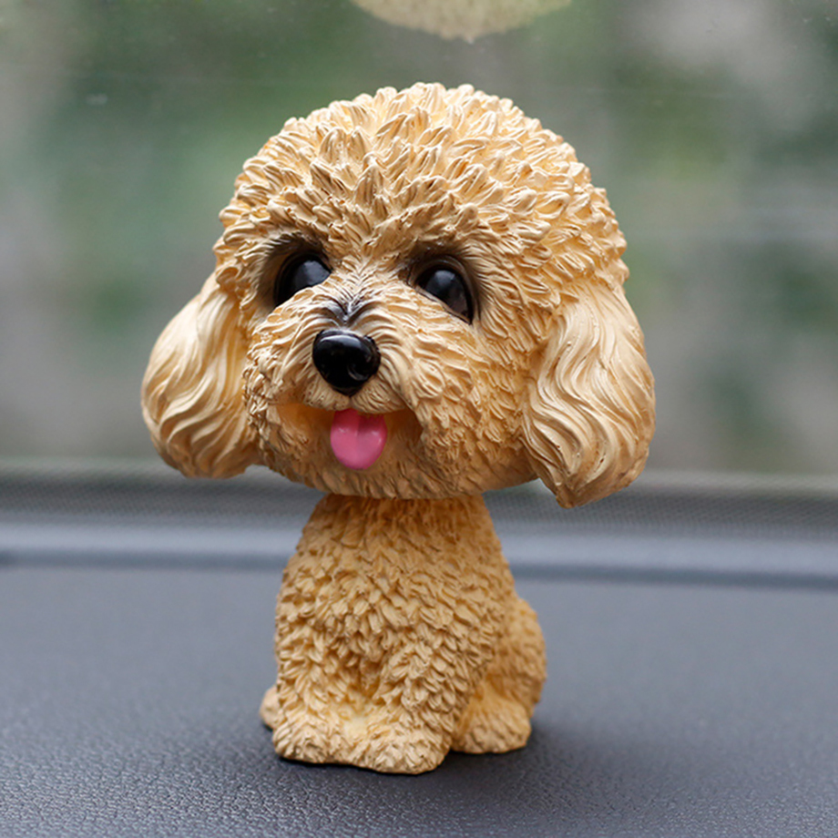 Bobblehead Dog Nodding Puppy Toys Lovely Car Dashboard Decor Toy Shaking Head Dolls Auto interior Accessory Cute Christmas Gifts (7)