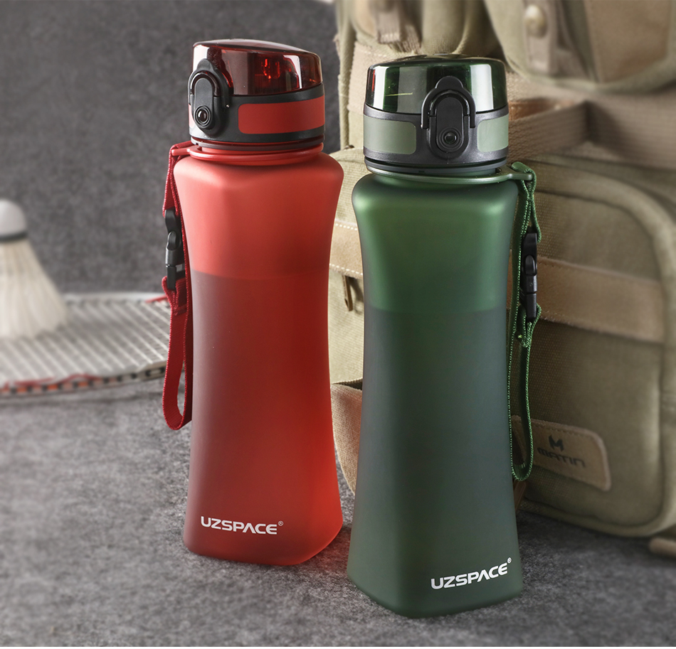 8a188b7a1656 New Uzspace Sport Water Bottle 500ml Fashion Protein Shaker Hikingtravel My  Bottle For Water Plastic Drinkware Bpa Free C19041601 Water Bottles For ...