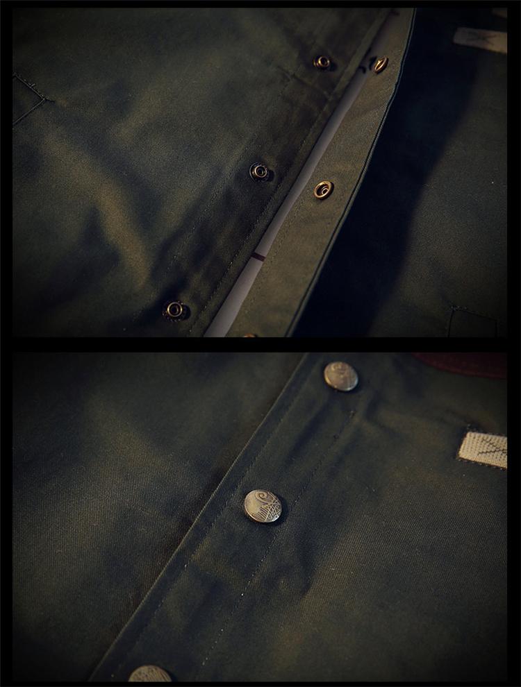 Großhandel Marke Casual Teenager Jacke Grün Jacken Männer Drehen Unten Kragen Langarm Taktische Bomber Military Herren Dünne Mantel 4xl C19041701 Von