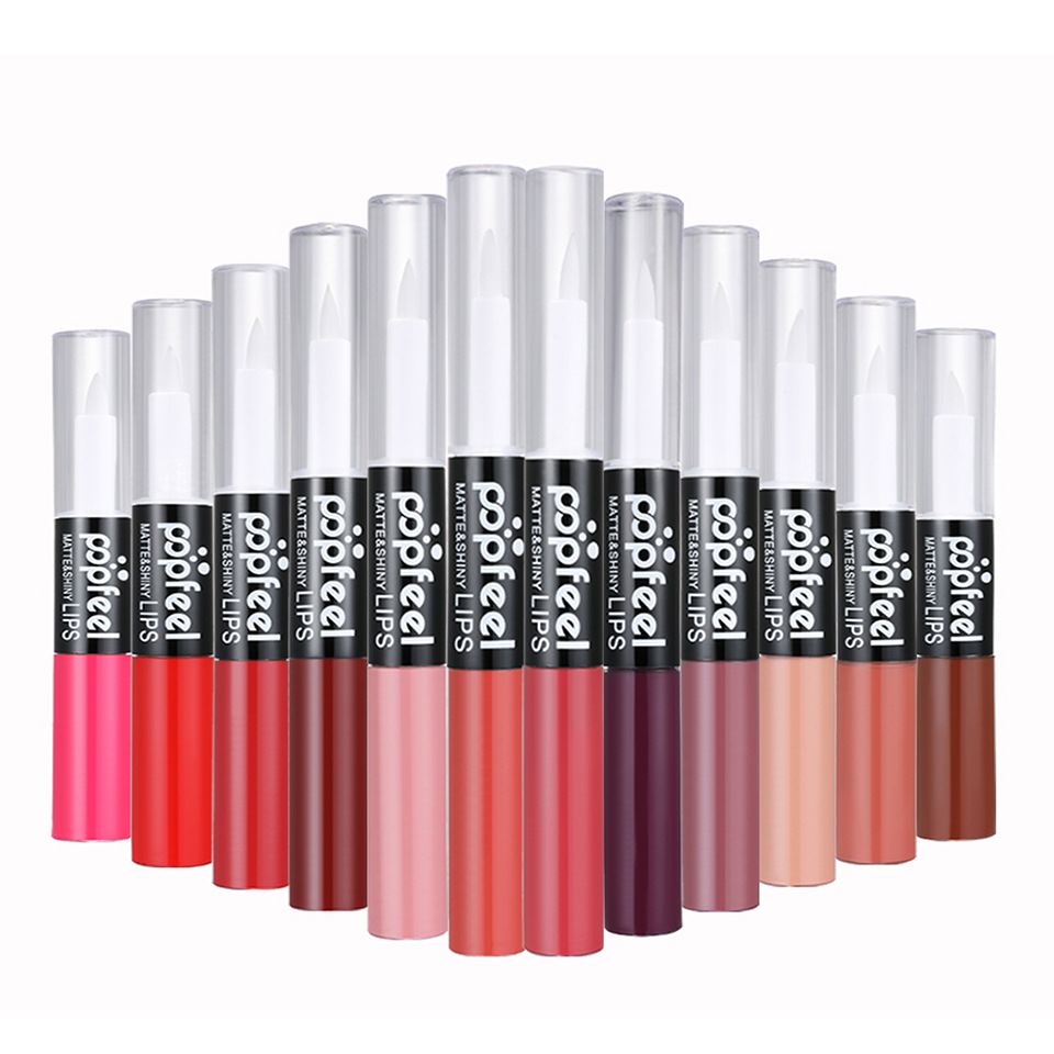 Factory Original Matte Lipstick Moisturizer Long Lasting No Fading Double Head Lip Gloss Waterproof Fashion Lip Stick