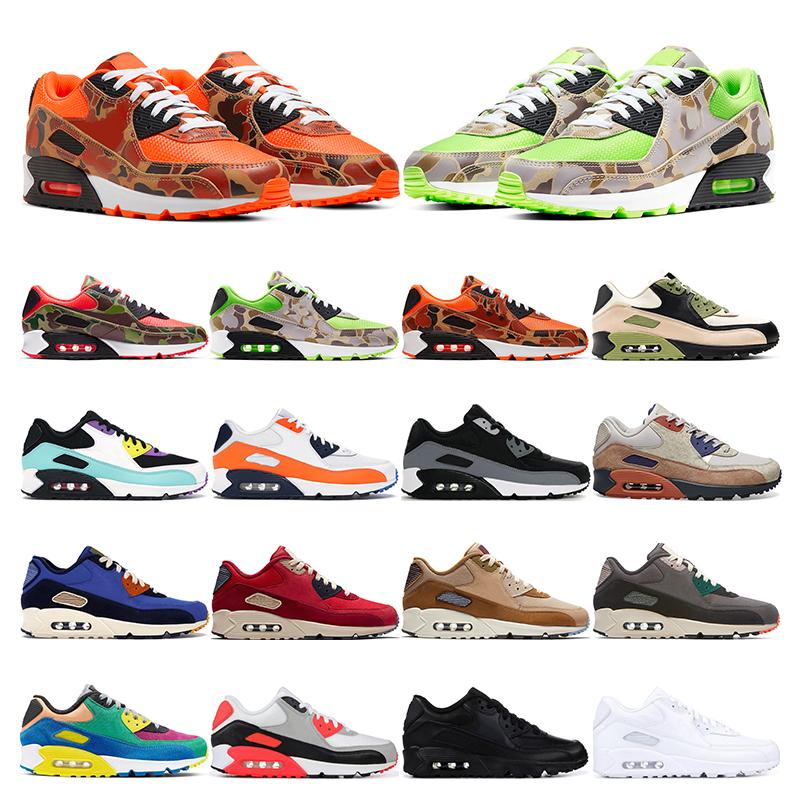 nike air max 90 2019 New arrivel 90 chaussures de running pour hommes, femmes, rose laser, triple blanc, noir, infrarouge, ESSENTIAL Bred, baskets de