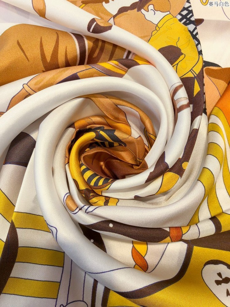 Silk Scarves For Women Scarf In Spring And Autumn Horse Racing Patterns  Handmade Crimping Hot Recommended Fashion Knitted Scarf Scarves Wholesale  From
