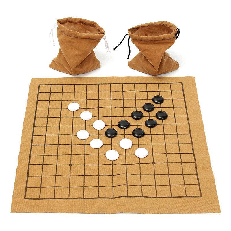 Melhor Negócio Divertido Jogos de Família Go Bang Conjunto De Xadrez Placa De Folha De Couro De Camurça Crianças Educacional Entretenimento Brinquedo Jogo Q190604