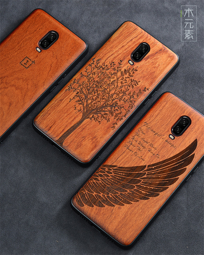 Oneplus 6t Case Boogic Original Real Wood funda Oneplus 6T Rosewood TPU Shockproof Back Cover Phone Shell One plus 6T case (1)