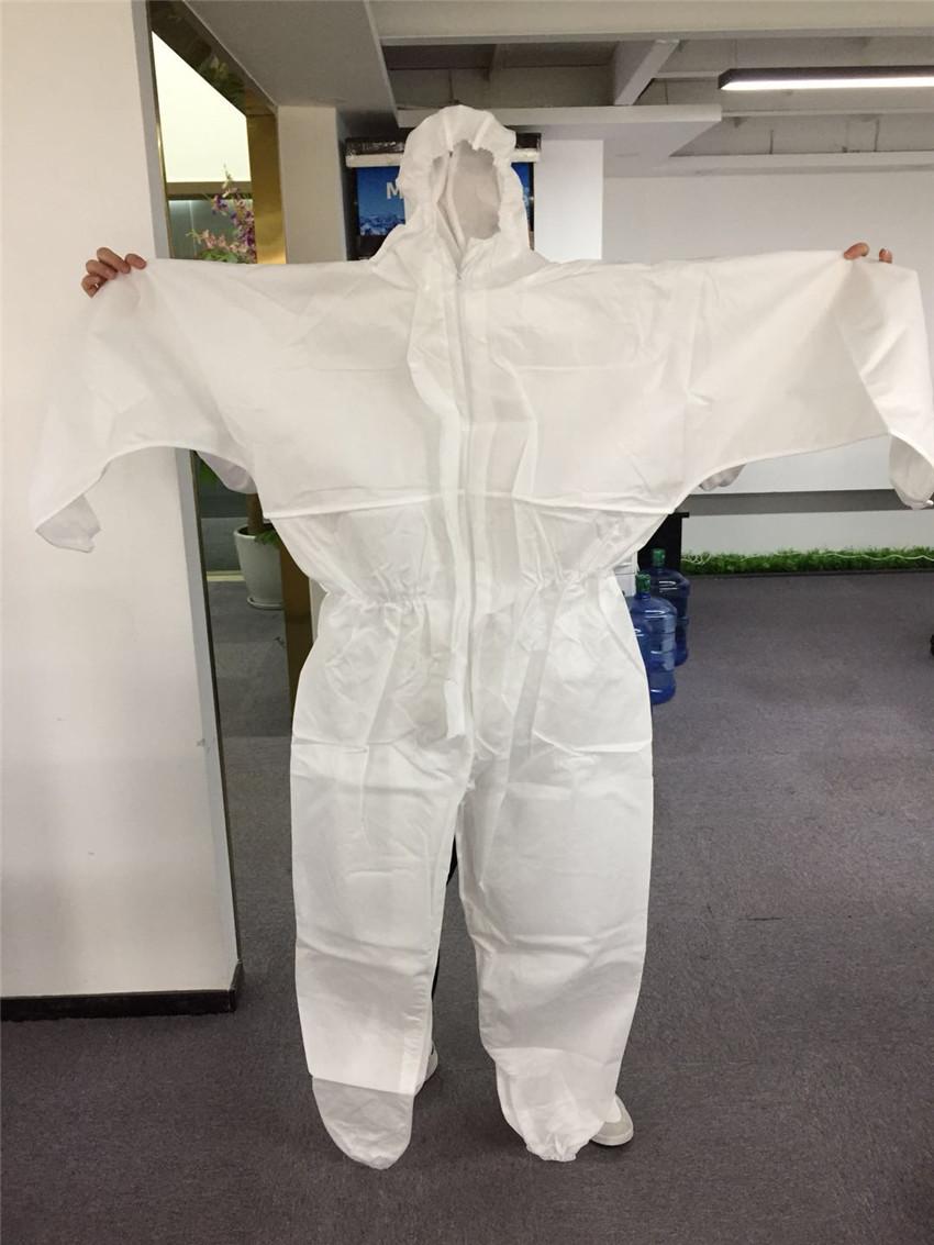 perfk Ropa de Trabajo Antiest/ática de Manga Larga Ropa de Resistente al Desgaste//Transpirable Blanco Antiest/ático