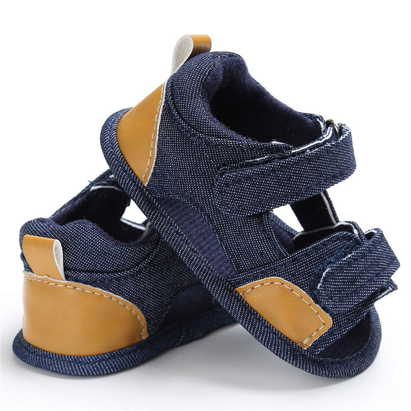 Summer Baby Shoes For Boys Girls Toddler Infant Kids Baby Boys Girls Solid Canvas Sole Crib Shoes Anti-slip Sandals Shoes M8Y11 (14)