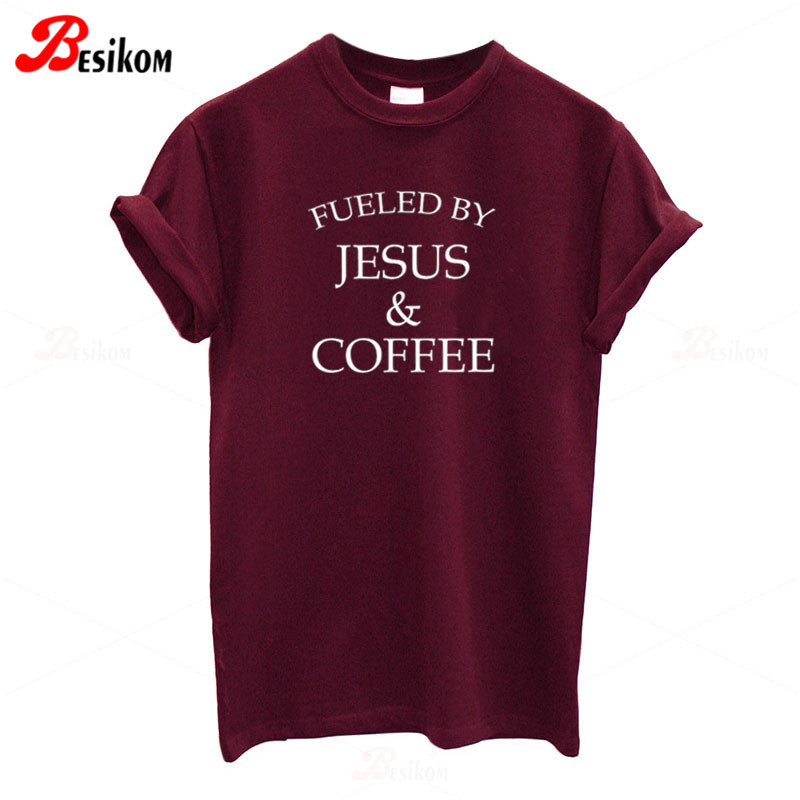 Women Not Today Unicorn Letters Printed Short Sleeve T-Shirt Jesus Tee Tops