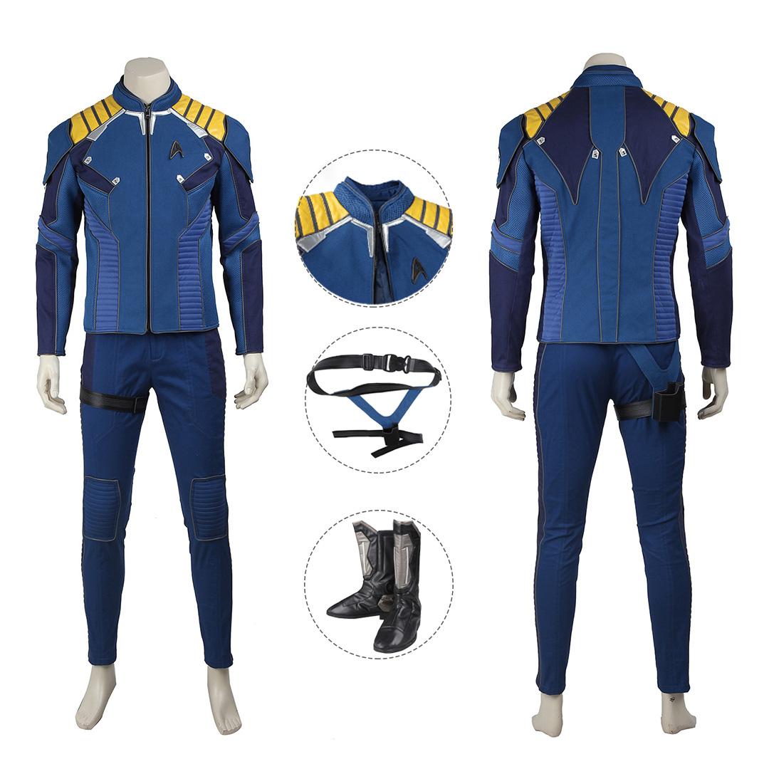 Star Trek uniforme disfraz Voyager azul-algodón-XL