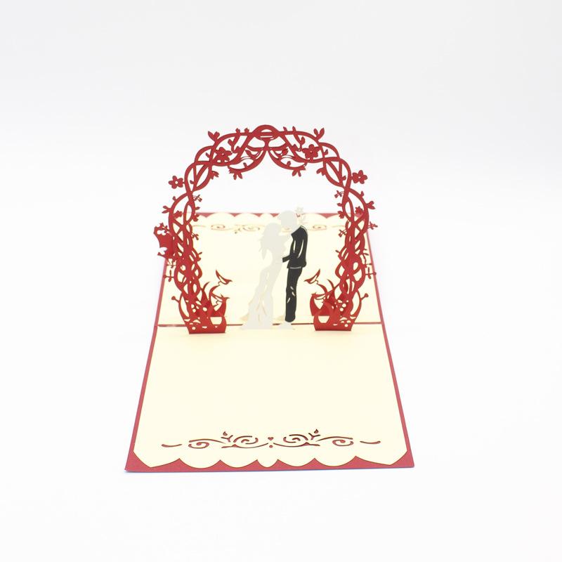 Mariage Pop Up Carte Luxe 3D unique Carte de vœux