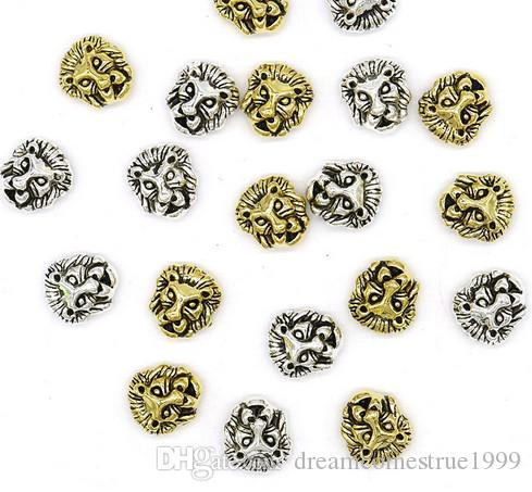 alloy Leone Lion head Beads Spacer Beads Charms Sliver Plated Gold Plated for Jewelry DIY Making 11x12mm