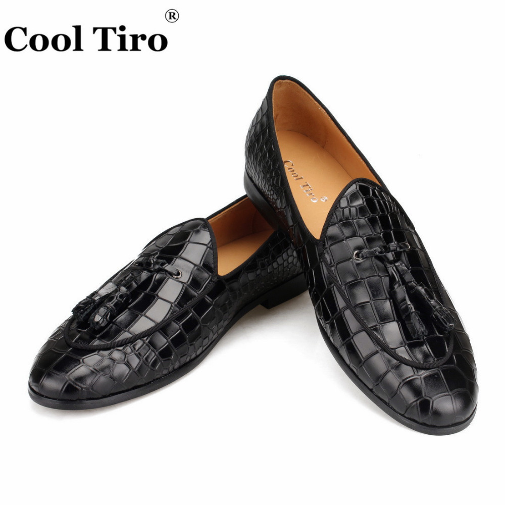 black CROCODILE LOAFERS WITH TASSELS (4)