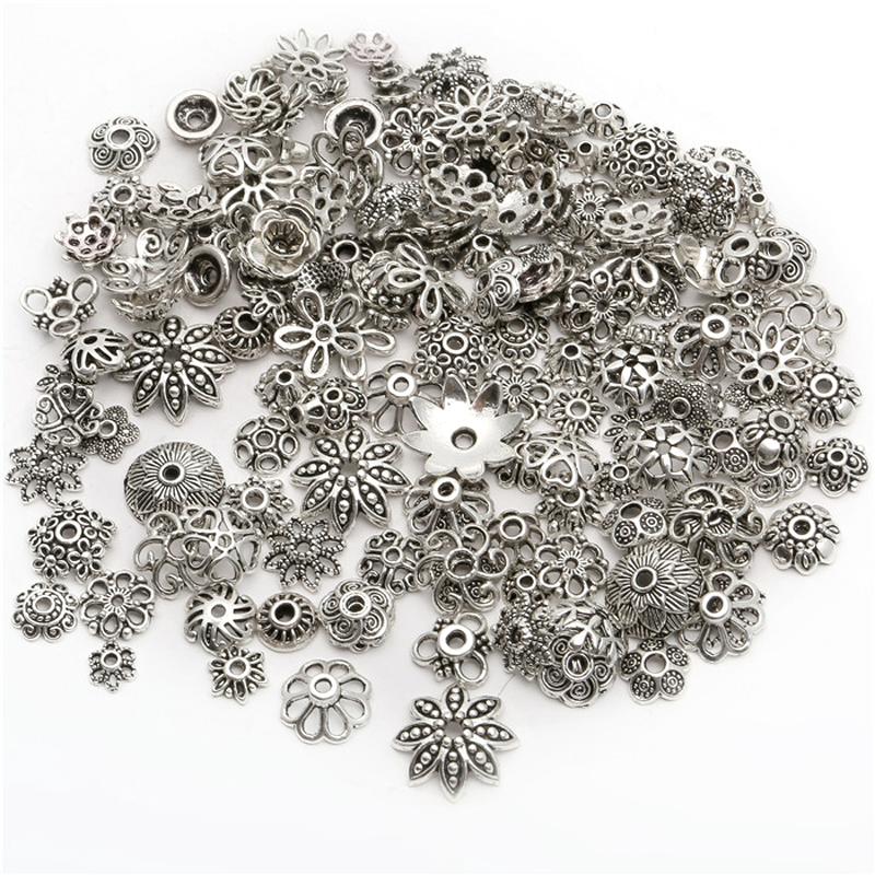150pcs Quaste Lederband Endkappe Perlen Stopper Handwerk für