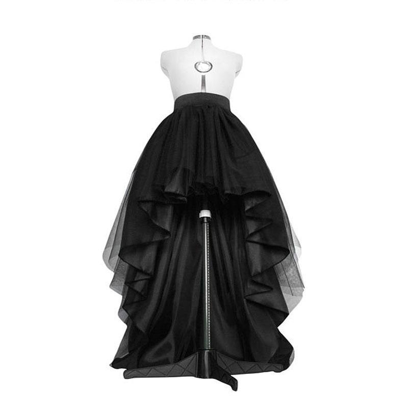 High low tulle skirt Asymmetrical taffeta skirt Dip hem tutu Layered wedding gown High waisted bridal gown Long tulle Full prom skirt