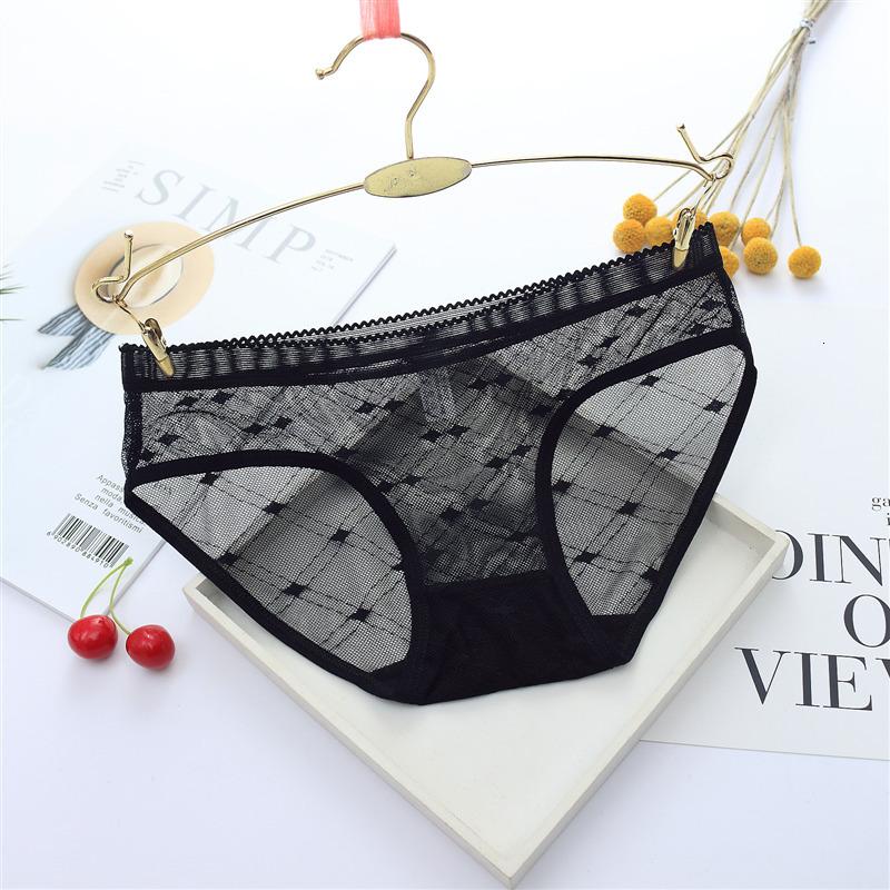 Sexy Seamless Briefs Transparent Women Underwear Panties Ultra-thin Women Briefs Lace Sexy Panty Cotton Underpants Plus Size 39 (5)