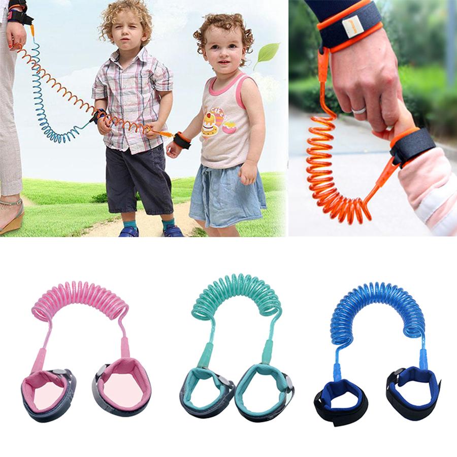 1 pc orange Anti-Perte Bracelet Poignet Lien Main Harnais Laisse bande de s/écurit/é pour les tout-petits Enfant Kid 2 M