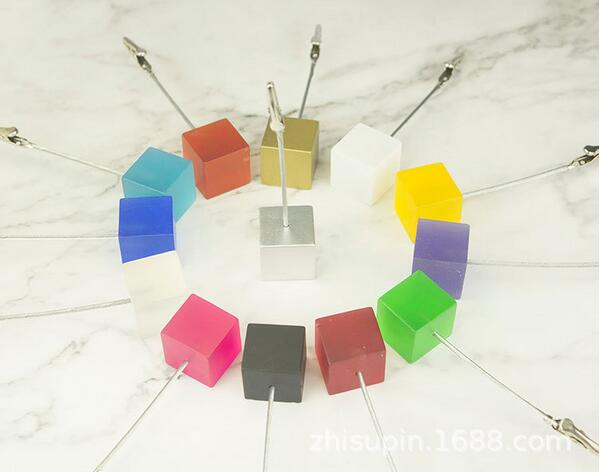 lot 50 12 5 cube wire card picture memo photo clip holders wedding table place