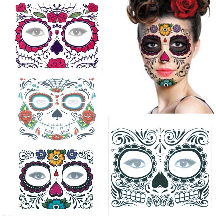 Giorno dei Morti Maschera Halloween Donna Sugar Skull Velo Costume Scheletro Nuovo