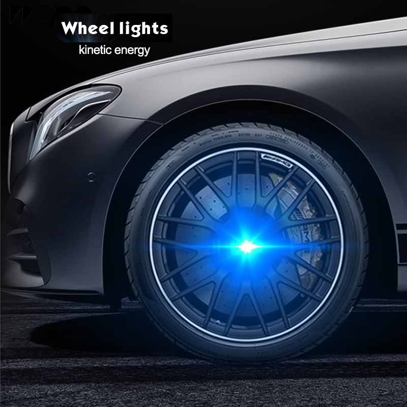 BT/_ Valve Stem LED CAP for Bike Bicycle Car Motorcycle Wheel Tire Light lamp Sur