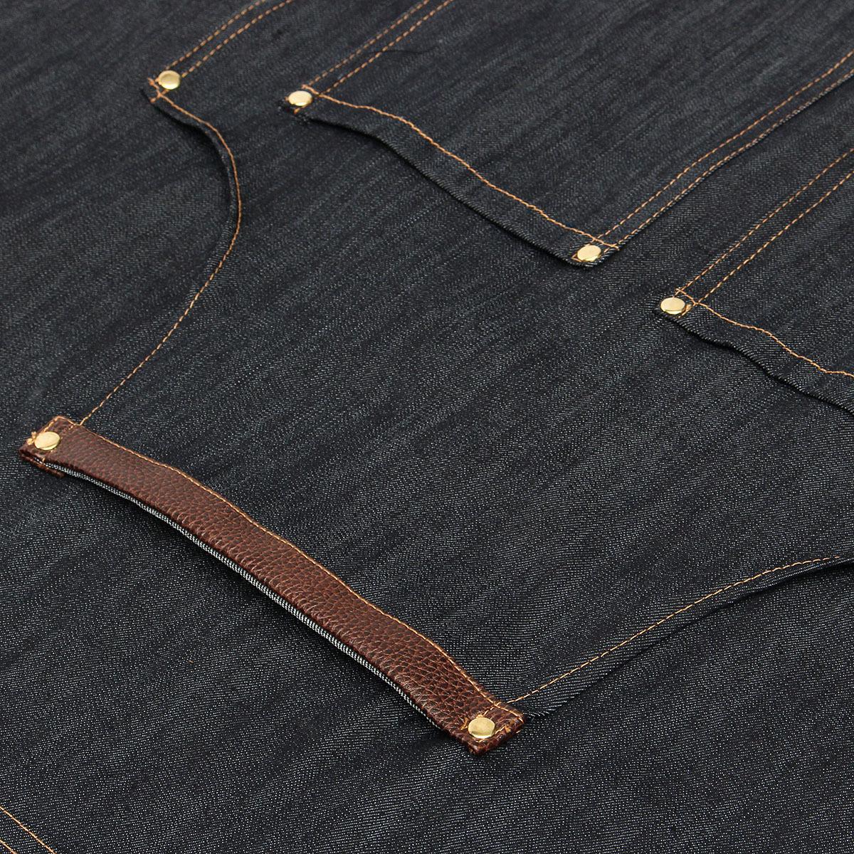 Pro Salon Jean Coiffure Cape Coupe De Cheveux Barber Denim Tablier Teinture Robe Wrap Coiffeur Styling Cloth Avec Poche T190718