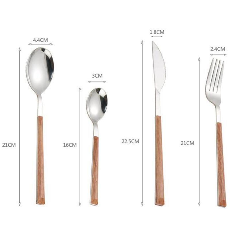 24Pcs-304-Stainless-Steel-Tableware-Set-Glossy-Wood-Silver-Dinnerware-Sets-Western-Food-Knife-fork-Teaspoon (2)