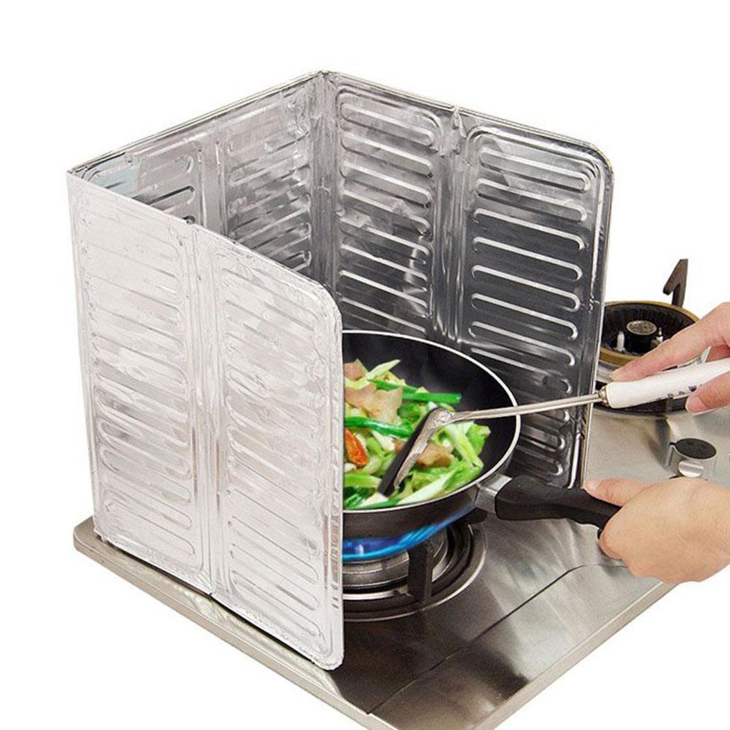 New Fashion New Kitchen Gas Stoves Oil Screen Foil Insulation Board Cooking Anti-splash Baffle New Fashion Home Supplies