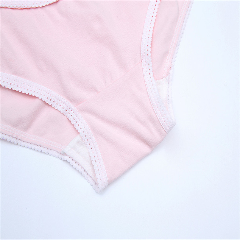 M-XXXL Pregnancy Maternity Clothes Cotton Women Pregnant Smile Printed High Waist Underwear Soft Care Underwear Clothes S14#F (47)