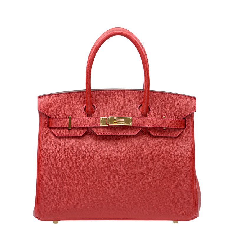/  handbag BIRKIN 30 Q5 red EPSOM gold buckle BK30Q5EPGP-BA9907