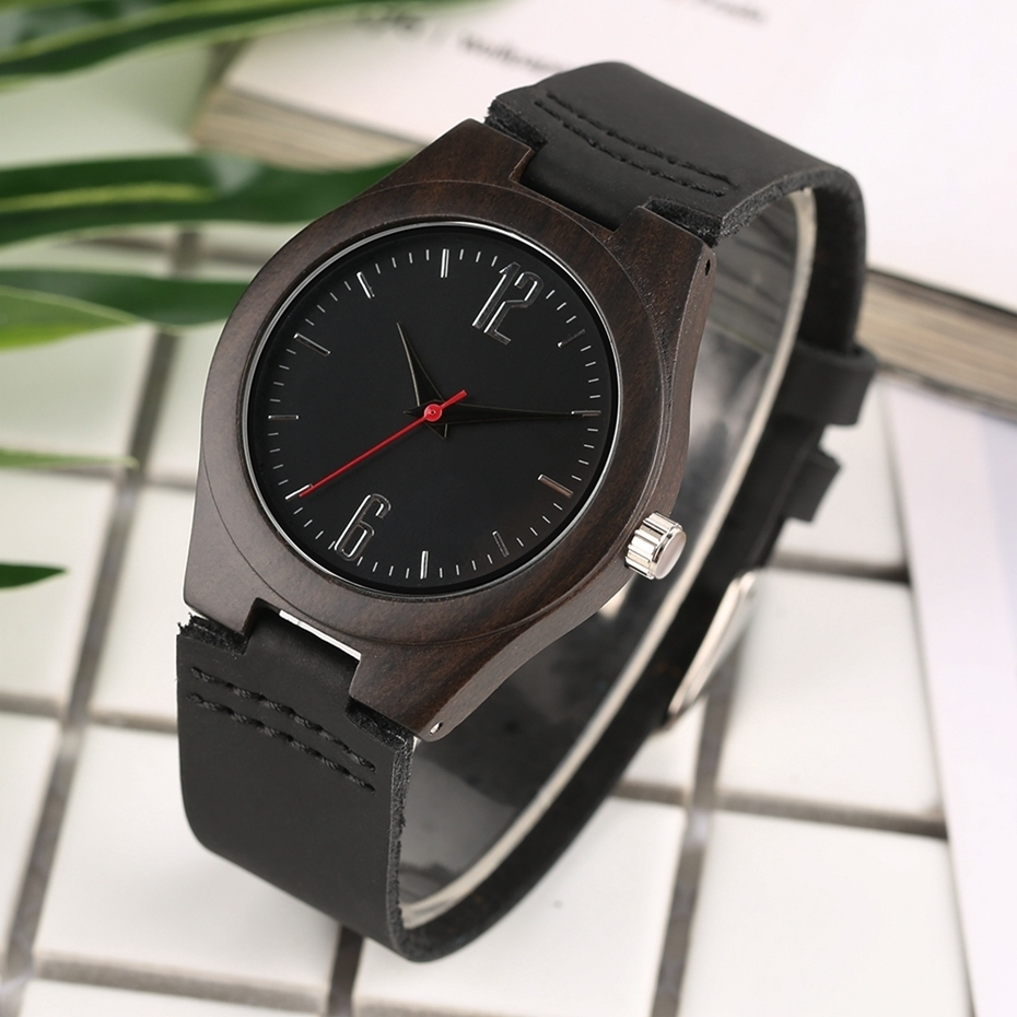 Lovers Gifts Luxury Royal Ebony Wood Watch Mens Fashion Wooden Women Dress Hour Clocks Soft Genuine Leather Relojes Wristwatches 2018 (27)