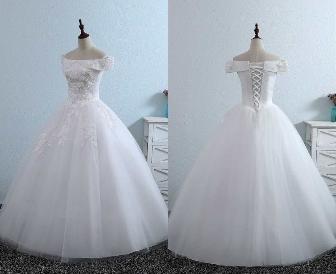 Discount Real Photo 2020 Romantic Wedding Dresses Bridal Gown With