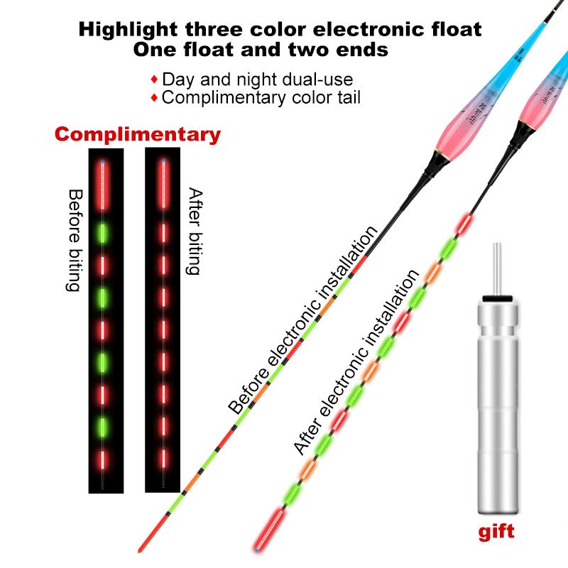 3 stücke LED Fischen Schwimmen  Elektroposen Leuchtend Fisch Boje Fishing Floats