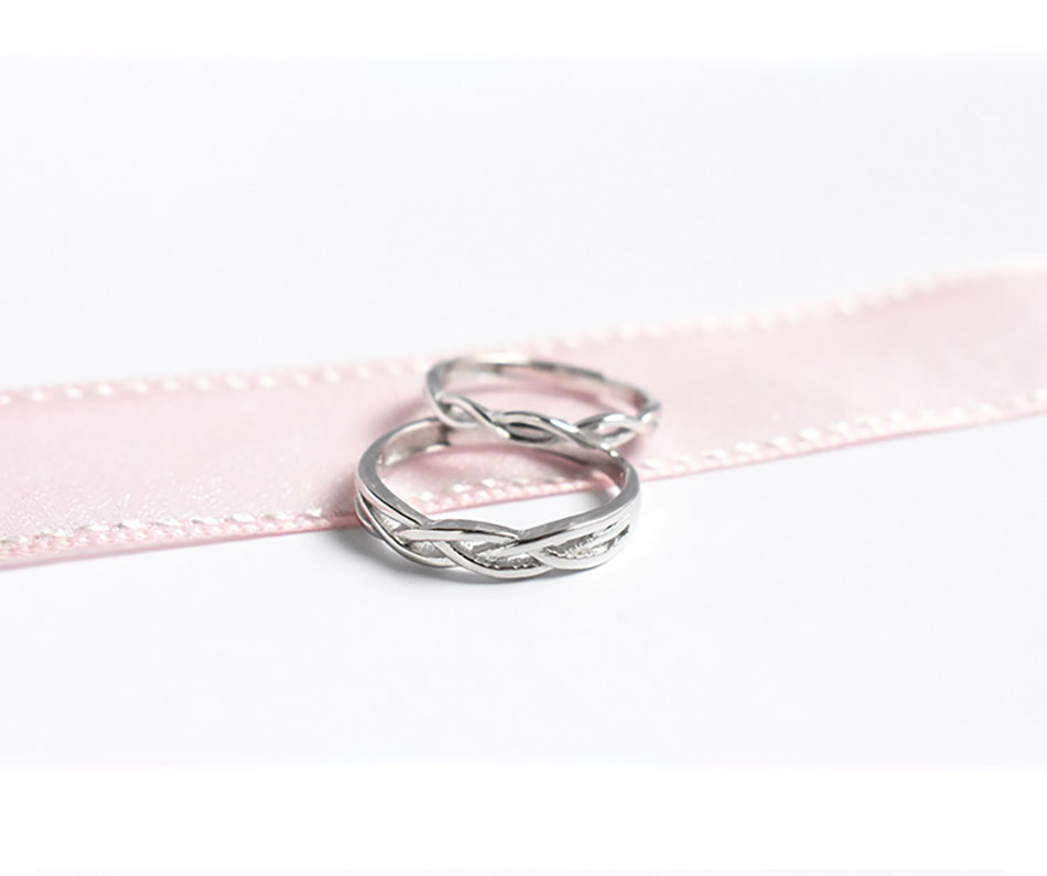 5 925 Sterling Silver Romantic Wedding Rings For Lover Silver Couple Jewelry For Engagement Party Wedding Bands Couple Rings