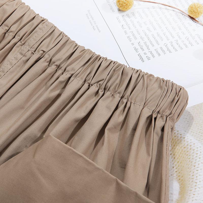 Sherhure 2019 Vintage Stretch High Waist Summer Women Midi Skirts Pocket Degin Saia Women A-line Cotton Skirt Faldas Jupe FemmeMX090709