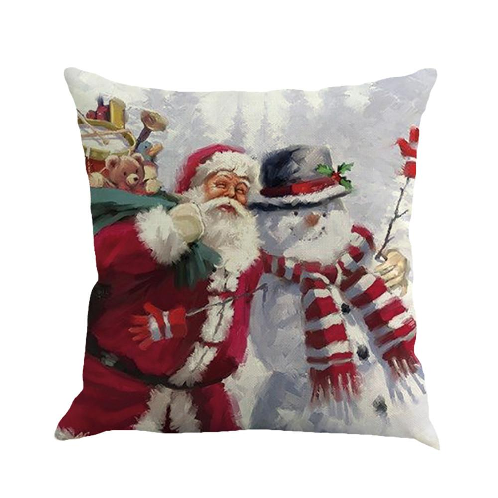 Merru Christmas Pillow Case Christmas PrintingDyeing Bed Home DecorPillow Cover