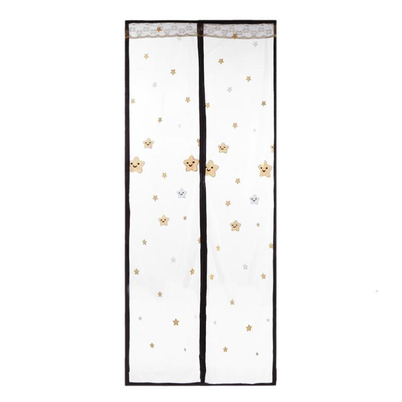 Summer Anti Mosquito Insect Fly Bug Curtains Mesh Net Automatic Closing Door Screen Embroidery Bebroom Door Sheer Curtains